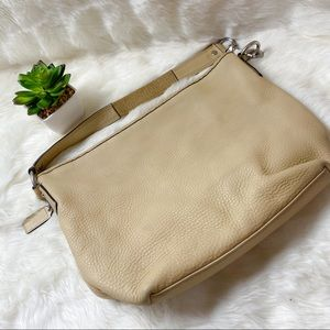 Coach F13094 Sarah pebbled leather bag  Beige